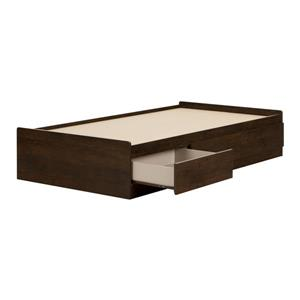 South Shore Furniture Fynn Brown 40.50-in x 76.50-in Mates Bed