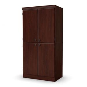 South Shore Furniture Morgan 4-Door Royal Cherry Storage Cabinet