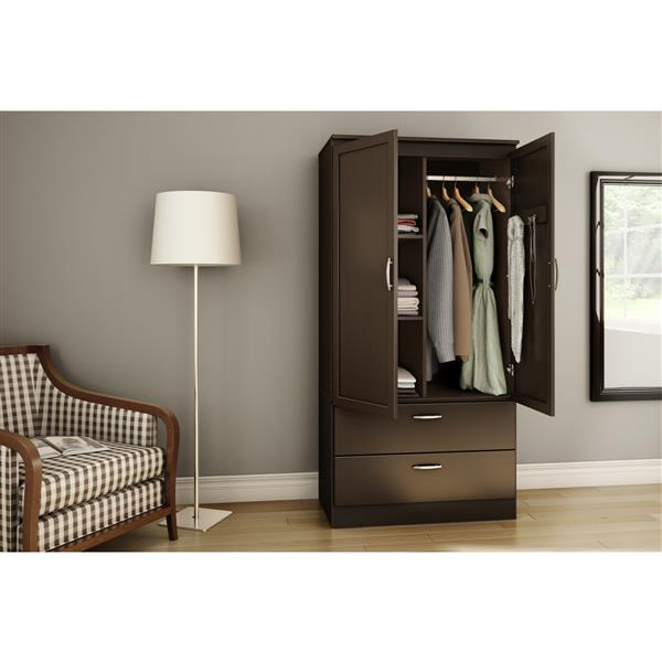 South Shore Furniture Chocolate Acapella Wardrobe Armoire