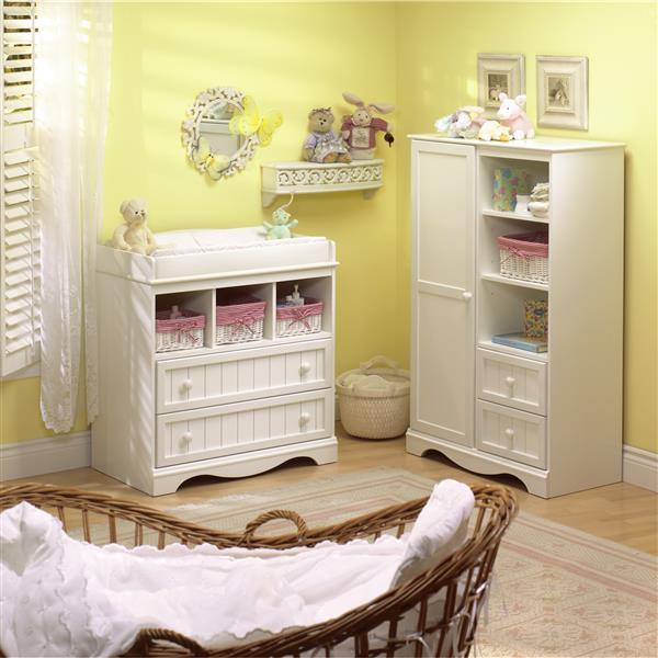 South Shore Furniture Savannah Pure White Armoire