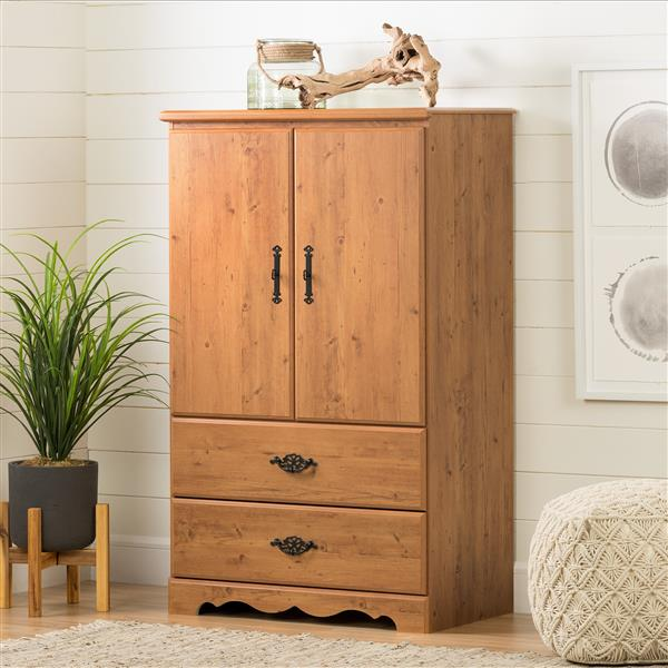 South Shore Furniture Prairie Country Pine Armoire