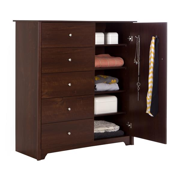 South Shore Furniture Vito 5-Drawer Sumptuous Cherry Door Chest