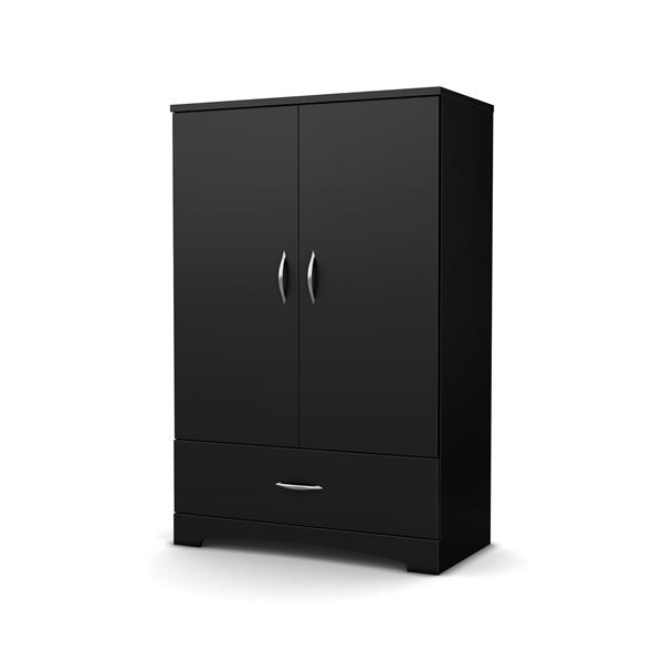South Shore Furniture Step One Pure Black Armoire