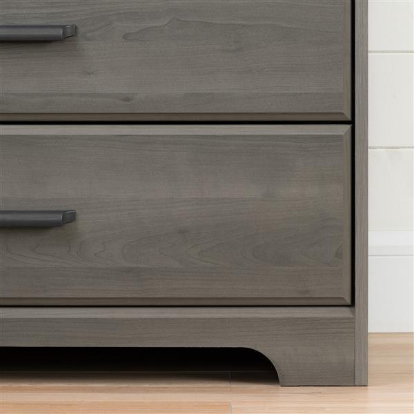 South Shore Furniture Versa 2-Door Grey Maple Armoire