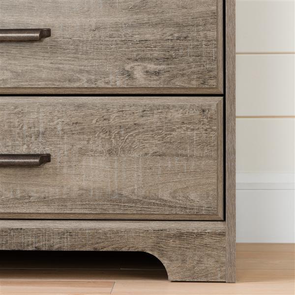 South Shore Furniture Versa 2-Door Weathered Oak Armoire