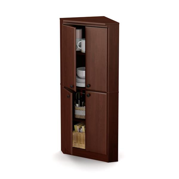 Armoire en coin Morgan, 4 portes, cerisier royal