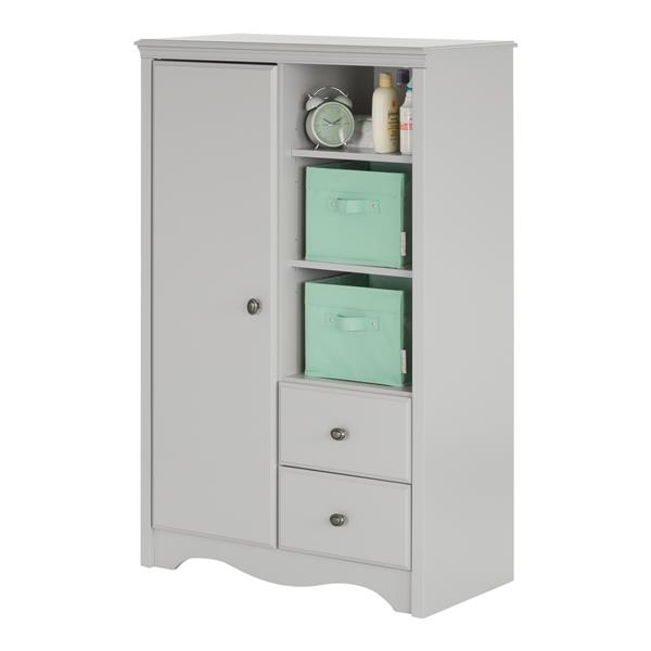 South Shore Furniture Heavenly Soft Grey Angel Armoire with Drawers