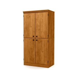 South Shore Furniture Morgan 4-Door Country Pine Storage Cabinet