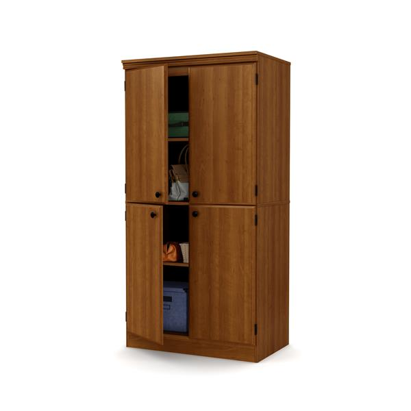 South Shore Furniture Morgan 4-Door Cherry Storage Cabinet.