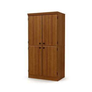 South Shore Furniture Morgan 4-Door Cherry Storage Cabinet.