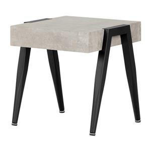 Table de bout City Life, gris béton et noir, 20 po