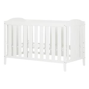 South Shore Furniture Reevo 29.5-in x 54.5-in x 37.5-in Pure White Crib with Toddler Rail