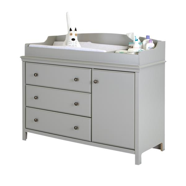 Table à langer avec pourtour Cotton Candy, gris clair