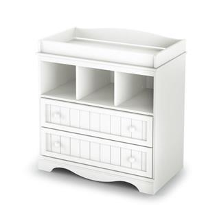 South Shore Furniture Savannah Pure White Changing Table with Optional Baskets