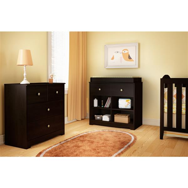 South Shore Furniture Little Teddy Espresso Changing Table