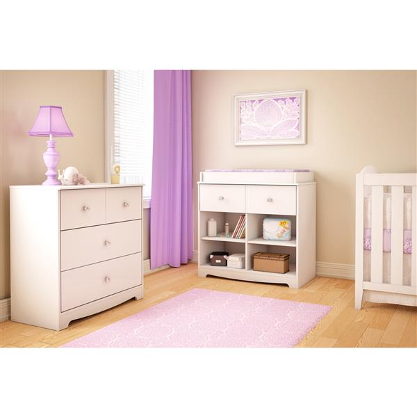 South Shore Furniture Pure White Little Jewel Changing Table