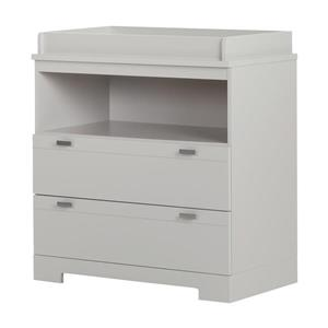 South Shore Furniture Reevo Soft Gray Changeing Table with Storage