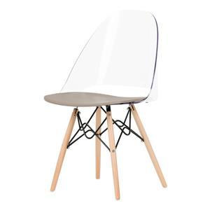 Chaise de bureau Annexe de style Eiffel, gris