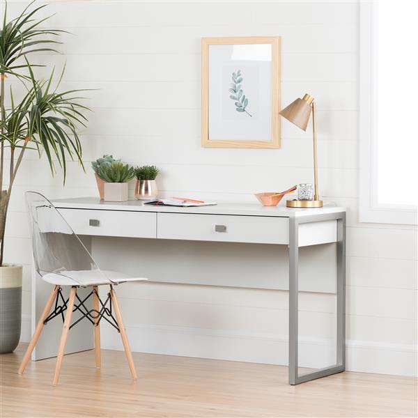 Chaise de bureau Annexe de style Eiffel, blanc