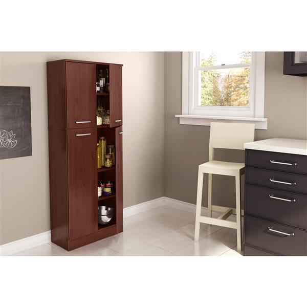South Shore Furniture Axess 4 Door 23.50-in x 61.00-in Storage Pantry
