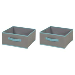 South Shore Furniture 5.75-in x 11.75-in Crea Fabric Storage Bins (2 Pack)