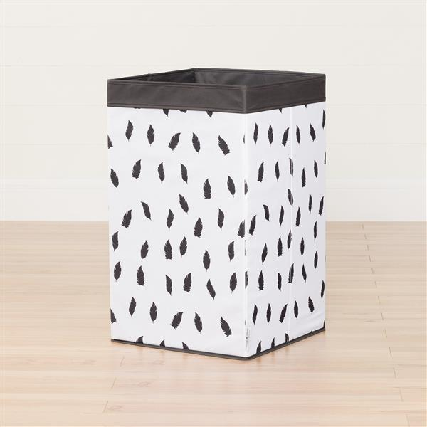 South Shore Furniture Storit Feather Print Laundry Hamper White/Black