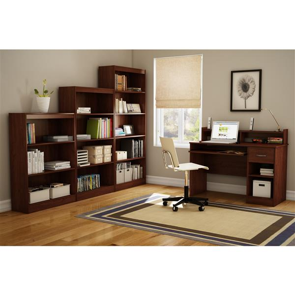 South Shore Furniture Axess 43.25-in x 28-in x 11.5-in Royal Cherry 3-Shelf Bookcase