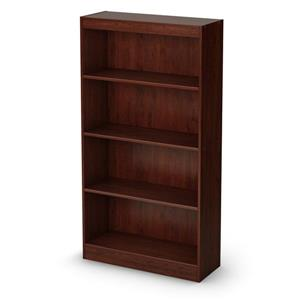 South Shore Furniture Axess 56-in x 28-in x 11.5-in Royal Cherry 4-Shelf Bookcase