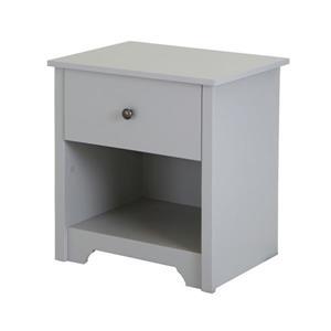 Table de nuit à 1 tiroir Vito de South Shore Furniture, grise