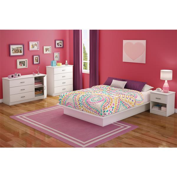 South Shore Furniture Libra 1- Drawer White Nightstand