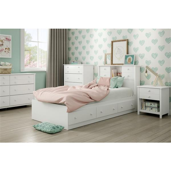 South Shore Furniture Little Smileys 1-Drawer White Nightstand