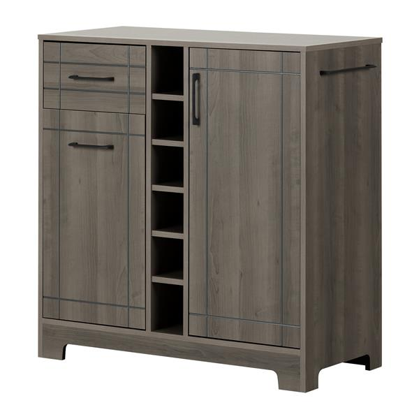 SOUTH SHORE FURNITURE Meuble bar avec rangement Vietti 11029 | RONA