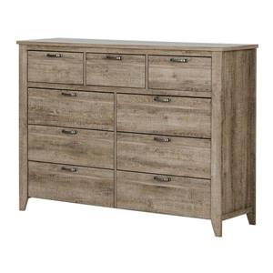 South Shore Furniture Lionel Weathered Oak 9-Drawer Sideboard