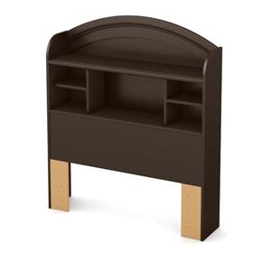 South Shore Furniture Morning Dew 48.00-In x 41.00-In Twin Chocolate Bookcase Headboard
