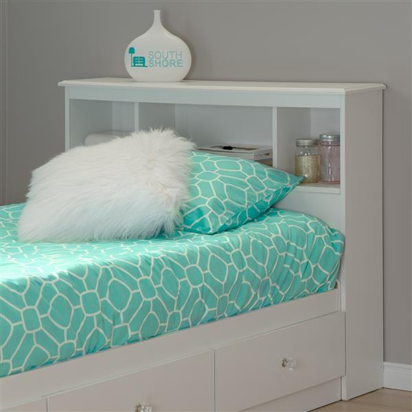 Tête de lit avec bibliothèque Crystal
