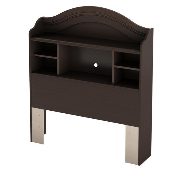 South Shore Furniture Bookcase Headboard - Chocolate - Twin