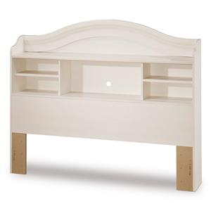South Shore Furniture Summer Breeze White Full Bookcase Headboard