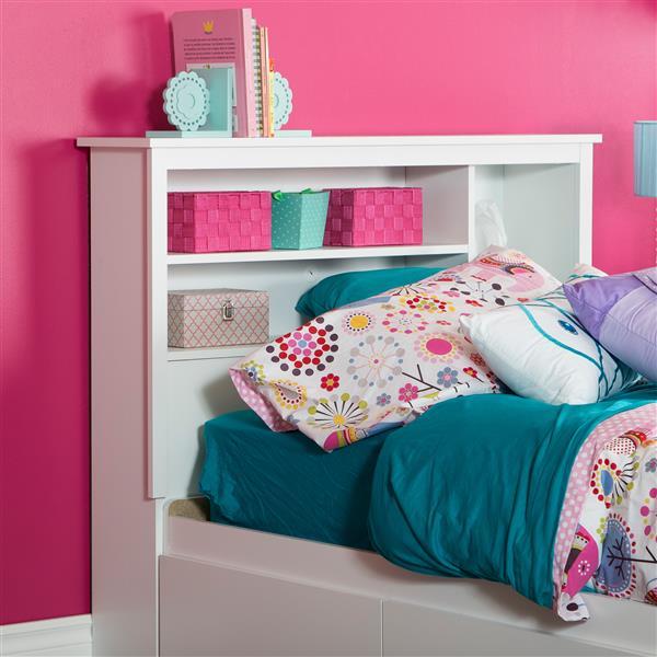 Tête de lit avec bibliothèque Vito