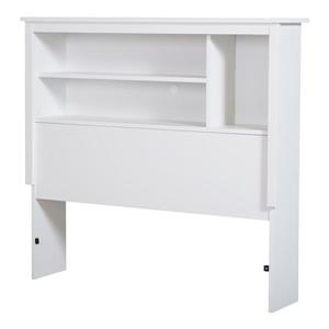South Shore Furniture Vito White Twin Bookcase Headboard