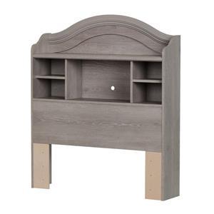 South Shore Furniture Savannah Sand Oak Twin Bookcase Headboard