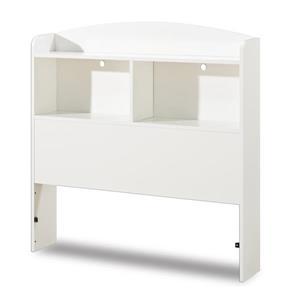 South Shore Furniture Logik 41.75-In x  41.00-In Twin Pure White Bookcase Headboard