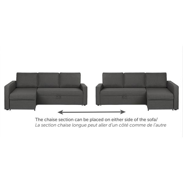 Astounding South Shore Furniture Live It Cozy Sectional Sofa And Bed With Storage Pdpeps Interior Chair Design Pdpepsorg