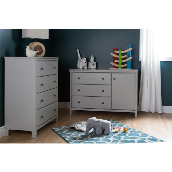 South Shore Furniture Cotton Candy Changing Table with 4-Drawer Chest