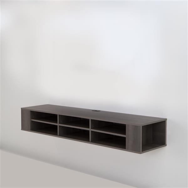 South Shore Furniture City Life 66-in Gray Maple Wall-Mounted Media Console