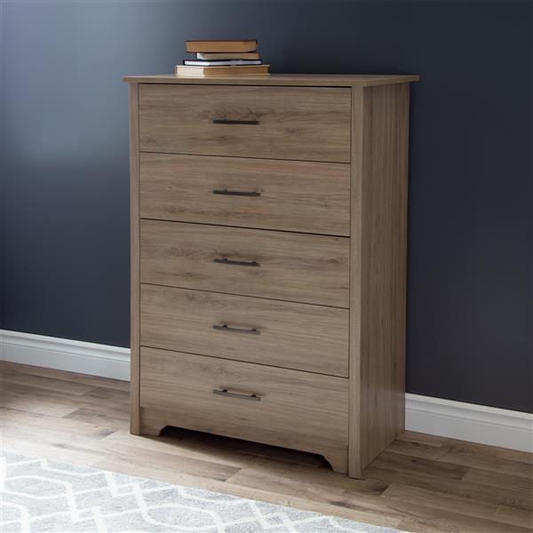 South Shore Furniture Fusion 5 Drawer Chest - Rustic oak