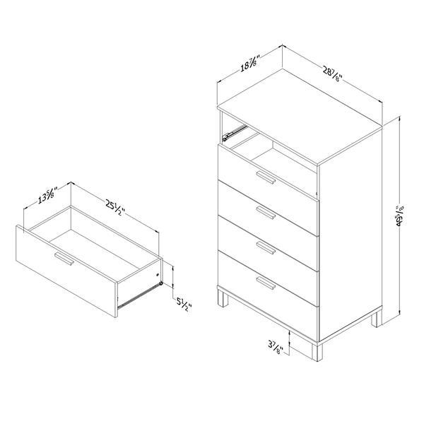 Commode à 5 tiroirs Flexible