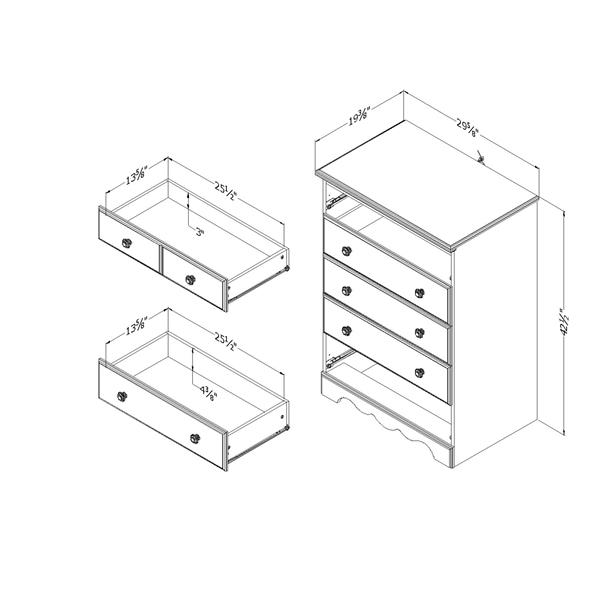 South Shore Furniture Summer Breeze 5 Drawer Chest