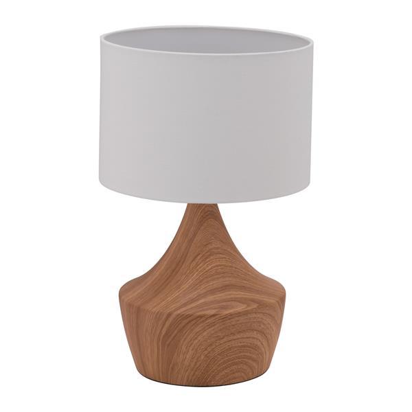 """Lampe de Table Kelly, Blanc & Brun, 18.7"""""""