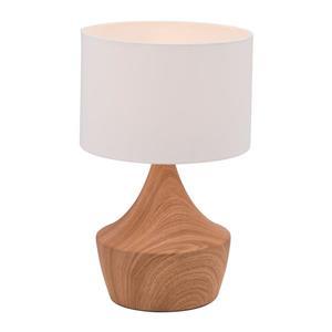 Lampe de table Kelly de Zuo Modern, 18,7 po, effet bois, beige et blanc