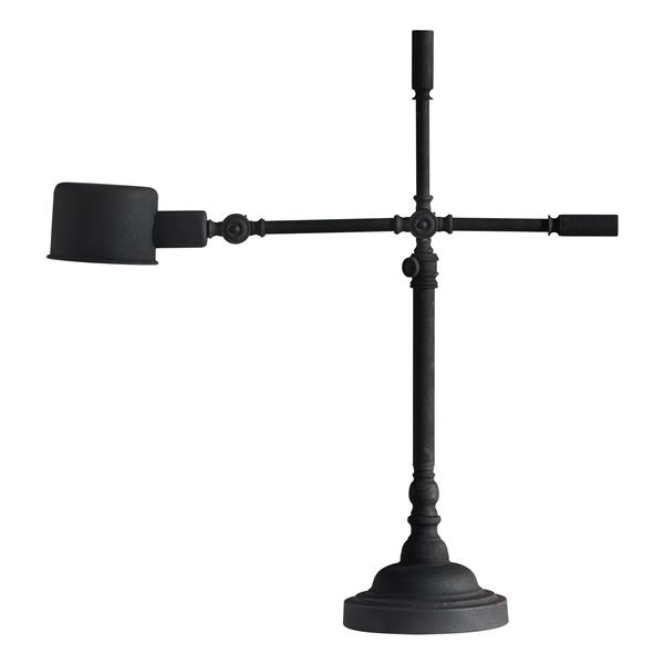 "Lampe de Table Turn, Granite Noir, 26.9""x23.6"""